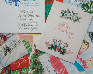 A selection of vintage Christmas cards